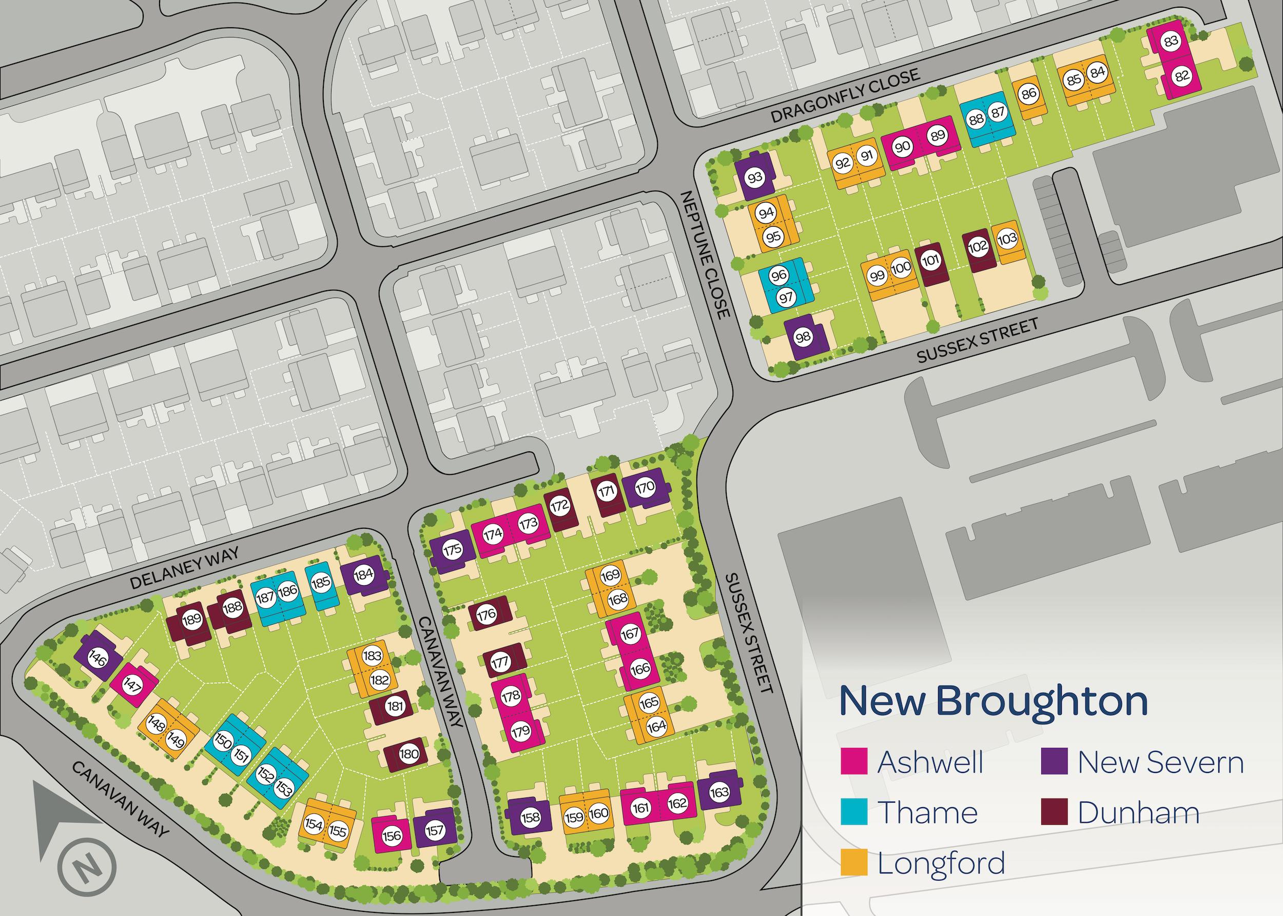 New Broughton Map